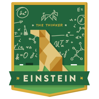 Einstein-badge