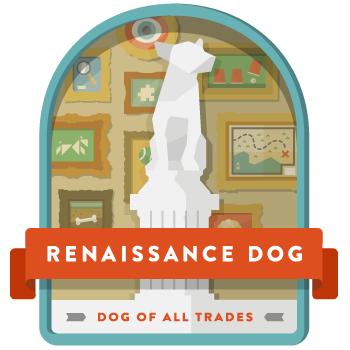 Renaissance-dog-badge